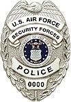 US Air Force Civilian Police badge.jpg