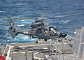 US Navy 060506-N-9546C-001 A French Navy Panther helicopter lands aboard guided-missile destroyer USS Decatur (DDG 73). Decatur joined a coalition task force.jpg
