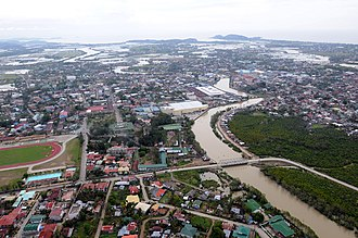 Roxas, Capiz - Image: US Navy 080626 N 5961C 005 igh above Roxas, standing water is visible after the wake of Typhoon Fengshen