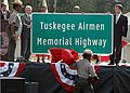 US Navy 081010-N-3069F-011 Alabama Governor Mr. Bob Riley announces a portion of the I-85 interstate as the Tuskegee Airmen Memorial Highway.jpg