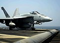 US Navy 081018-N-7571S-001 An F-A-18E Super Hornet strike fighter assigned to the.jpg