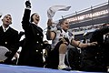 US Navy 081206-N-4565G-364 U.S. Naval Academy midshipmen celebrate after beating the U.S. Military Academy Black Knights 34 to 0 in the 109th Army-Navy college football game at Lincoln Financial Field in Philadelphia.jpg