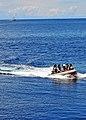 US Navy 100506-N-7643B-004 A Royal Brunei Navy boarding team approaches the U.S. Coast Guard cutter Mellon (WHEC 717) during a visit, board, search, and seizure exercise aboard the U.S. Coast Guard cutter USCGC Mellon (WHEC 717.jpg