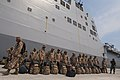 US Navy 100620-N-5319A-022 Mexican marines wait to board the amphibious transport dock ship USS New Orleans (LPD 18) for exercises in Manzanillo, Mexico. New Orleans is participating in Southern Partnership Station,.jpg