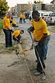 US Navy 100831-N-6736G-260 Sailors from USS Constitution clean the streets of Baltimore's 400 block during a Baltimore Navy Week 2010 community service project.jpg