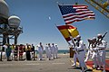 US Navy 110524-N-ZB612-309 The color guard marches on while Chief of Naval Operations (CNO) Adm. Gary Roughead and Spanish navy officials look on.jpg