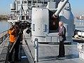 US Navy 111107-N-MM437-013 Tom Foreman reports from the Washington Navy Yard display ship Barry.jpg