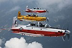US Navy Beechcraft T-6B Texans in flight on 21 June 2016.JPG