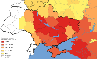 Southern Russia - Depopulation by 1933 due to the Red Terror, the genocide of the Holodomor, and the deportations for the GULAGs.