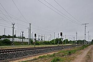 Neustrelitz–Warnemünde railway - Substation for rail power supply in Adamsdorf