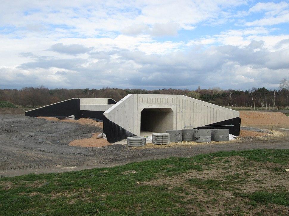 Underpass under construction (geograph 4403838)
