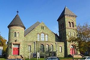 Washington, New Jersey - United Methodist Church on Washington Avenue, listed on the National Register of Historic Places