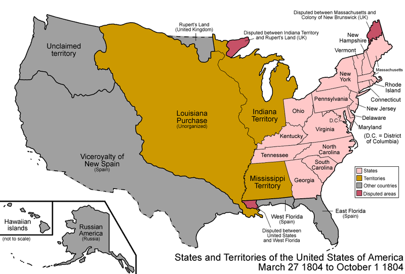 United States of America: Expansion (1801 – 1850)