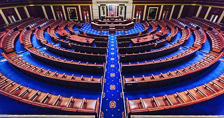 United States House of Representatives chamber.