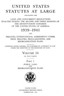 United States Statutes at Large Volume 54 Part 1.djvu