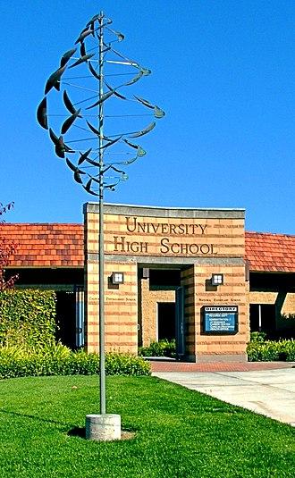 University High School (Irvine, California) - Entrance to University High School
