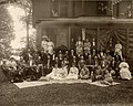 "University of Michigan Class of 1872- 35th reunion at Evart A. Scott's house (called the ""Elm Fruit Farm,"") on Washtenaw Ave, Ann Arbor, June 18, 1907.jpg"