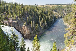Yellowstone Falls - Image: Upper Falls of the Yellowstone River, Yellowstone