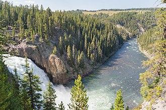 Yellowstone Falls - Image: Upper Falls of the Yellowstone River, Yellowstone