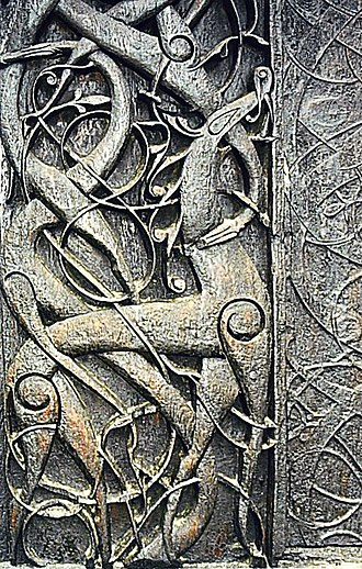 Ragnarök - Image: Urnes animals