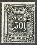 Uruguay 1877-79 Sc43 unused.jpg