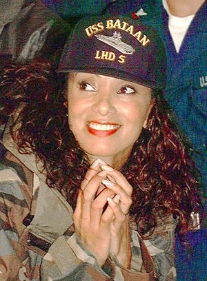 Downtown Julie Brown - Brown in a USO show, 1999.