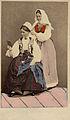 Världsutställningen i Paris 1867. Två kvinnor i folkdräkter från Blekinge - Nordiska Museet - NMA.0043724.jpg