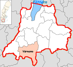 Värnamo kommunes situation i Jönköpings amt