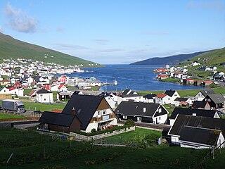 Vágsfjørður fjord