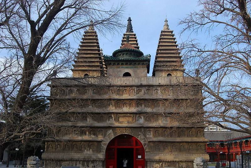 File:Vajra throne tower in Zhenjue Temple.JPG