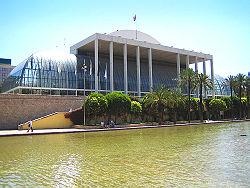 Vista del palau de la Música de València des del Jardí del Túria. Foto: into public domain from wikimedia.org