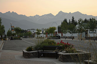 Valemount - Looking West on 5th Ave downtown Valemount, BC