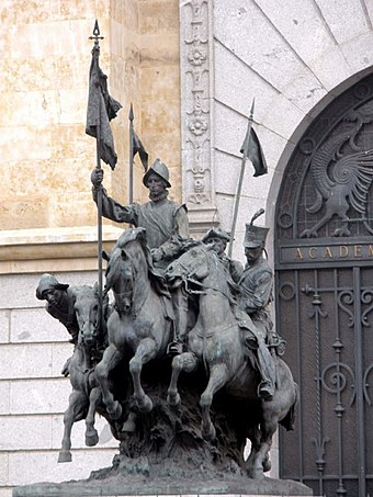 Monument to the Spanish Regiment of light cavalry of Alcantara Valladolid - Academia de Caballeria 3.jpg