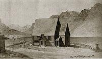 Vang stavkirke 1841.jpg