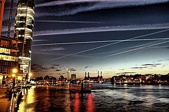 Vauxhall - Image: Vauxhall Nine Elms Battersea Pimlico at night