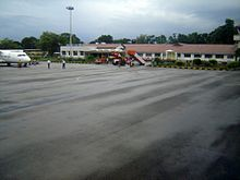 View of passenger terminal.