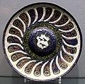 Venezia, piatto in rame smaltato con stemma, 1490-1510 ca.JPG