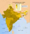 Verbreitung des Hinduismus in Indien 2001.png