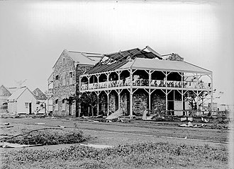Victoria Hotel, Darwin - Victoria Hotel after cyclone damage in 1897