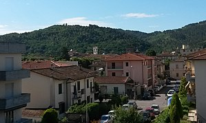 Vicchio - Panoramic view of town's center