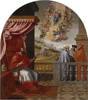 Pope Victor III - Vicente Carducho: Vision of Pope Victor III. Monastery of El Paular (Spain).