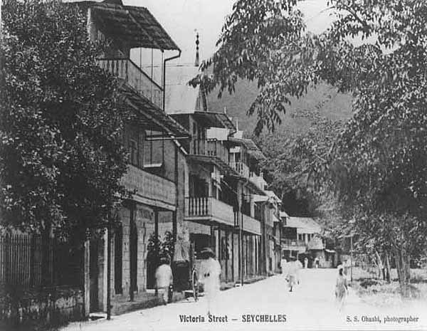 Victoria Street Victoria Seychelles 1900s
