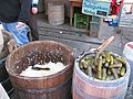 Vienna Austria Pickles and sauerkraut (2377539781).jpg