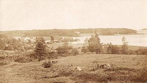 Brooklin, Maine - Center Harbor in 1909