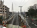 View from footbridge on south side of Mozu Station (south).jpg