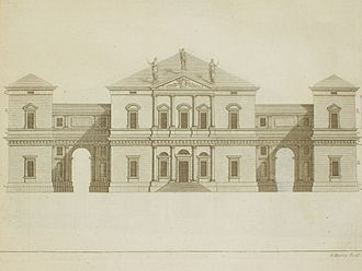 Hammond–Harwood House - The Villa Pisani at Montagnana from The Four Books of Architecture by Andrea Palladio, Giacomo Leoni, 1742