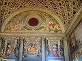 Villa di Poggio a Caiano, sala di Leone X, Lunetta di Pontormo e Alessandro Allori.JPG