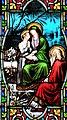 Villeréal - Église Notre-Dame - Vitrail de la vie de Marie -2.jpg