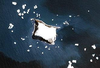 Vindication Island - NASA Terra image of Vindication Island