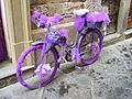 Violet bicycle in Florence.JPG